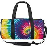 d8e88344342b ALAZA Vintage Rainbow Swirl Tie Dye Sports Gym Duffel Bag Travel Luggage  Handbag for Men Women