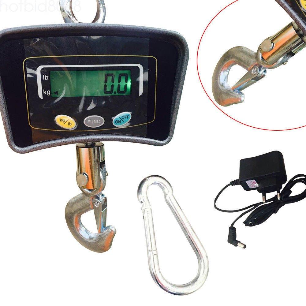 OUKANING 500 KG//1100 Patalla LED Inteligente B/áscula Electr/ónica Digital Port/átil con Gancho Resistente Crane Escala Industrial
