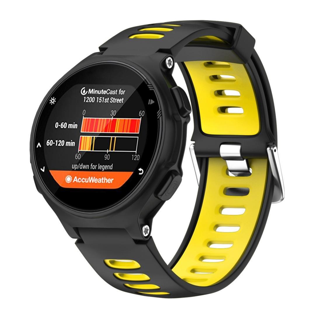 morrivoe Watchバンド、ソフトシリコンストラップ交換用時計バンドfor Garmin Forerunner 735 x t  イエロー B07C8LM318