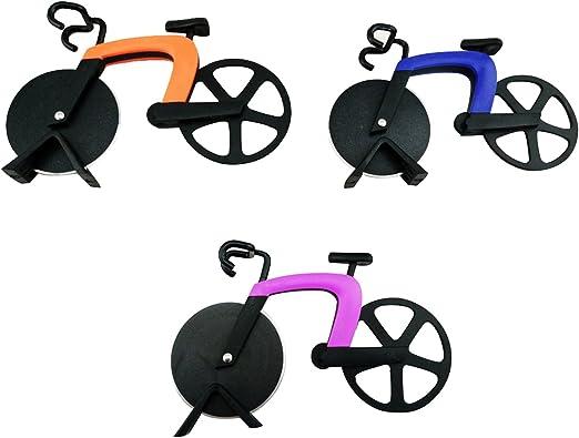 Cortador de pizza para bicicleta, acero inoxidable, herramientas ...