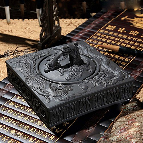 MDRW-Smokers Must Purple Sand Dragon And Phoenix Ashtray Creative European Style Ceramic Ashtray With - Phoenix Outlets New In