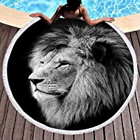 Thick Beach Towel Blanket Round picnic Mat Yoga Mat sand Proofing Mat swim Accessory Pool Microfiber Ice Cream Donut Cup…