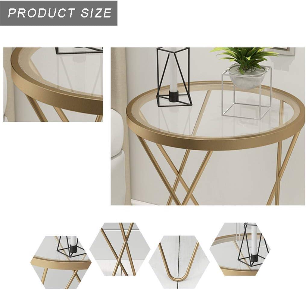 Aankoop WYJW Ronde woonkamertafel, met metalen frame, voor woonkamer, keuken, slaapkamer, kantoor, Scandinavische thuisdecoratie, goud/zwart Goud EGHIGj2
