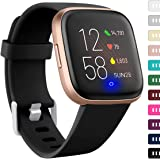 Ouwegaga Band Compatible with Fitbit Versa 2/Versa 1/Versa Lite/Special Edition Versa 2/SE Versa 1 Water Proof Fadeless…
