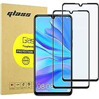 [2-Pack] Protector de Pantalla para Huawei P30, [9H Dureza] [Anti-Rayaduras] [3D Touch Compatible] Vidrio Cobertura Completa de Cristal Templado para Huawei P30 - Negro