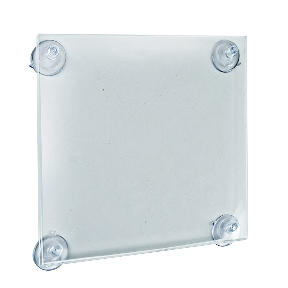 Azar Displays 106614 8.5 W by 11 H Acrylic Sign Holder with Suction Cups (2 Pack) by Azar Displays  B011DYIXPU