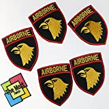Lot of 6 (5+1) Airborne Hawk Head Force Military Army Logo Embroidered Iron / Sew On Patch