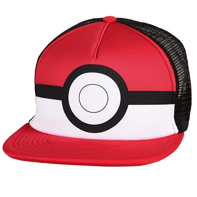 475ab54ab09 Image Unavailable. Image not available for. Color  Pokemon Pokeball Foam Trucker  Hat