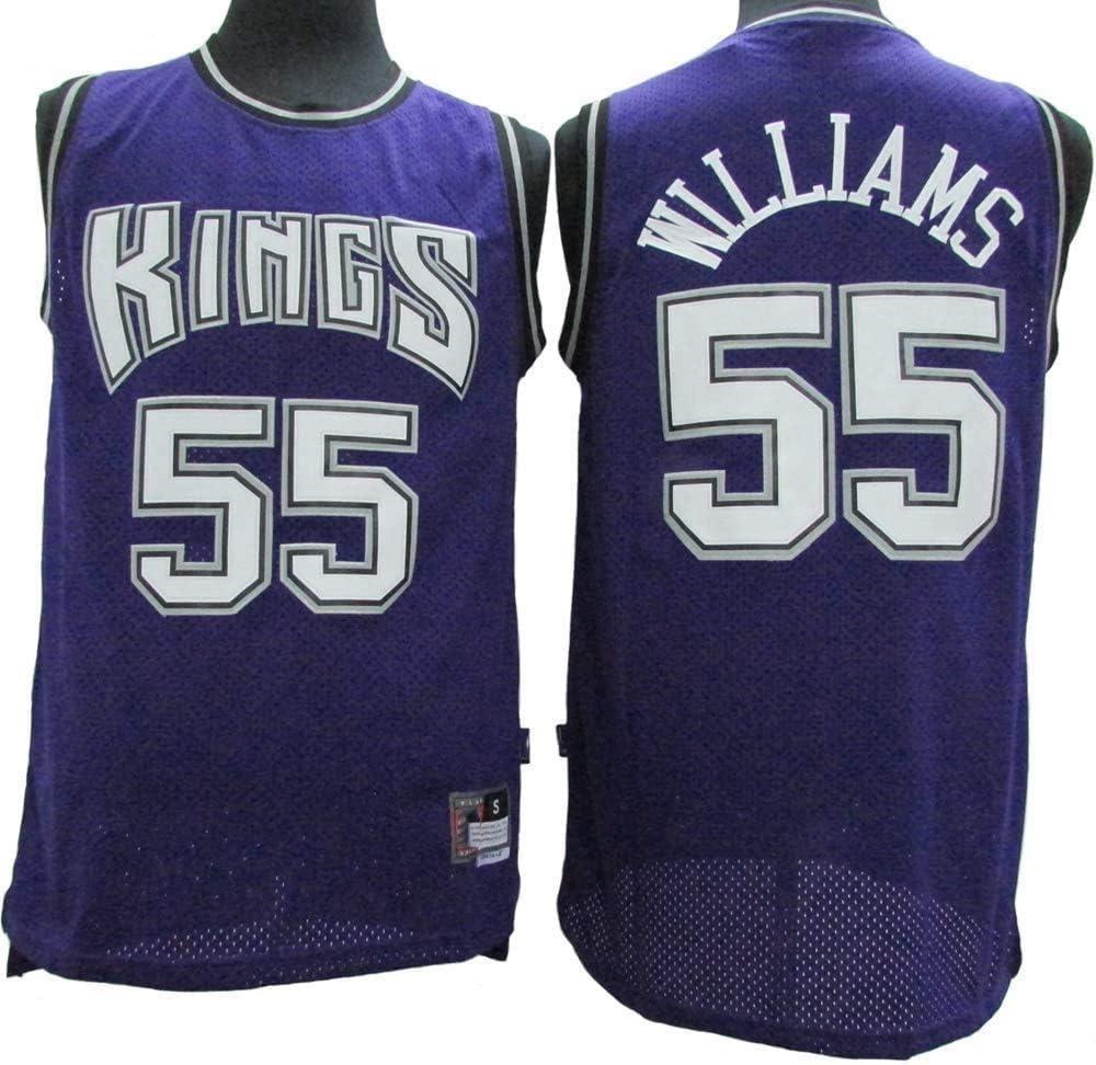 LLZYL Baloncesto NBA Jersey Jason Williams # 55 Sacramento Kings Retro De Las Estrellas Jersey Camiseta De Los Hombres Jersey Transpirable Tela Alero