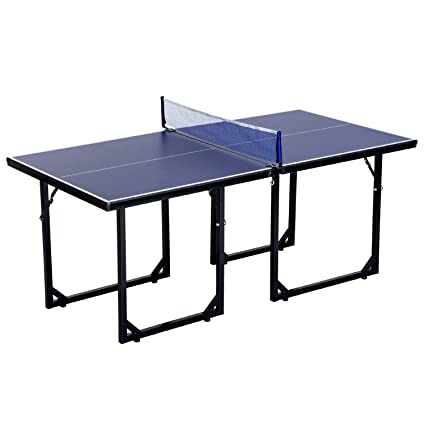 Soozier 6x3ft Compact Midsize Table Tennis Table Multi Use Family Ping Pong  Table Free