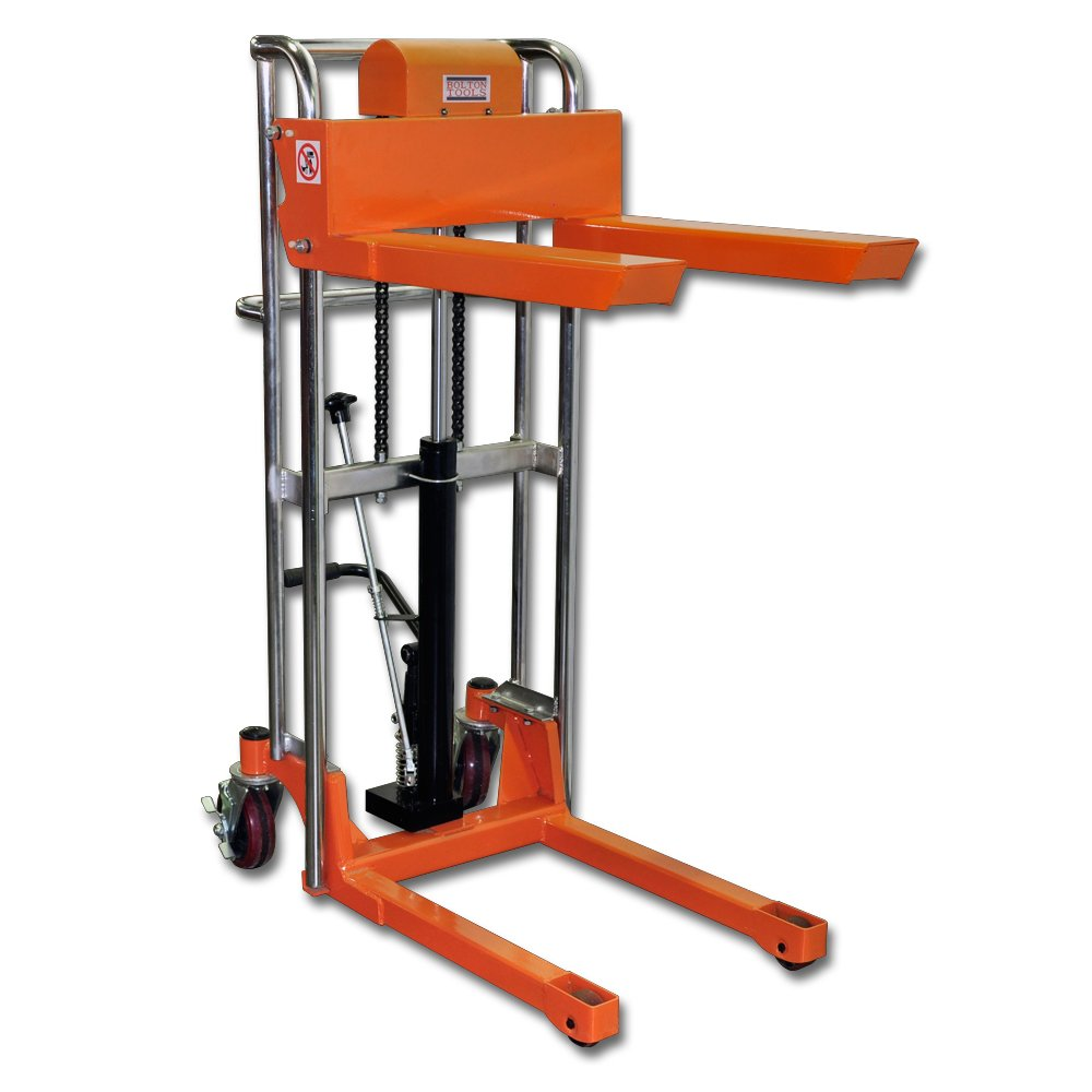 Bolton Tools New Foot Operated Pallet Lift Stacker Forklift Truck - 880 LB of Capacity - 51.2'' Max Height - Model TF40-13