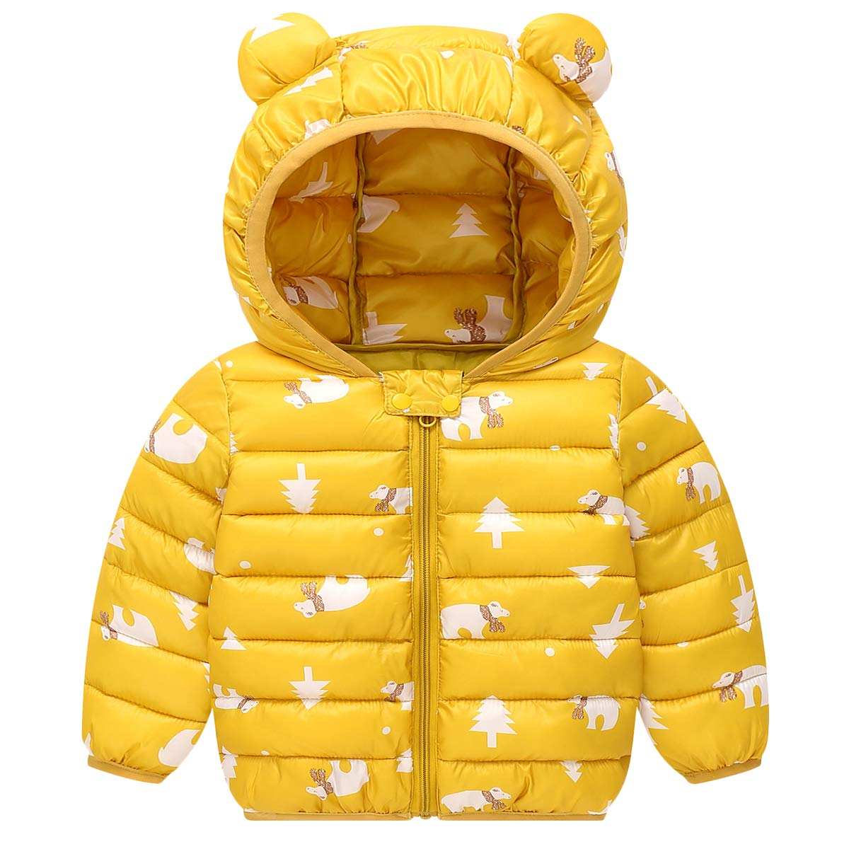Lemohome Baby Boys Girls Winter Coats Hoods Light Puffer Down Jacket Outwear
