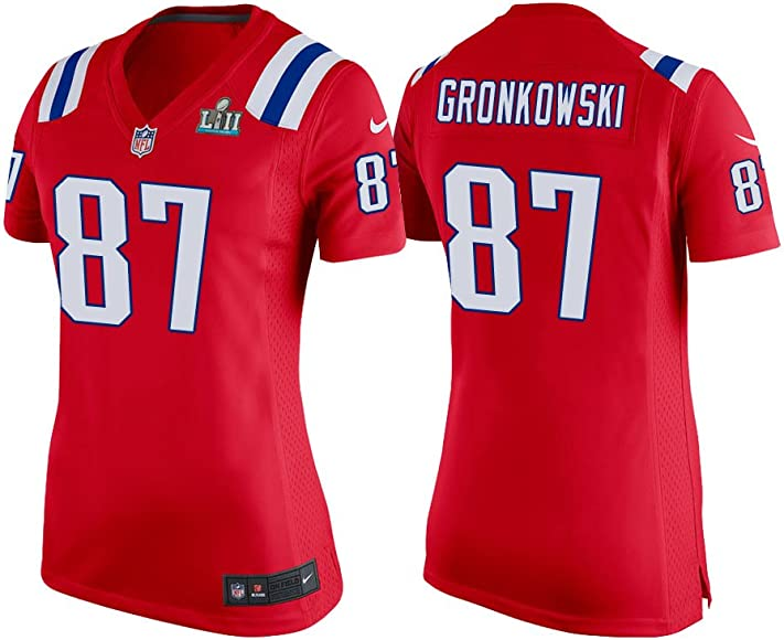 check out aff87 1412f Women's XL (X-Large) Rob Gronkowski New England Patriots Super Bowl LII  Game Jersey - Alternate Red