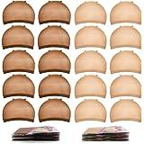 Nylon Wig Caps,MORGLES 20pcs Stocking Caps For Wigs Stretchy Wig Caps Brown & Light Brown Wig Caps For Women