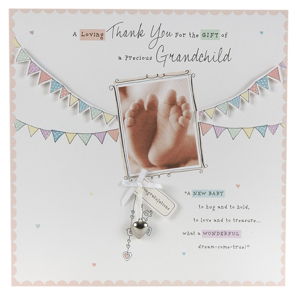 Hallmark new baby card thank you for our grandchild large hallmark new baby card thank you for our grandchild large square amazon office products kristyandbryce Choice Image