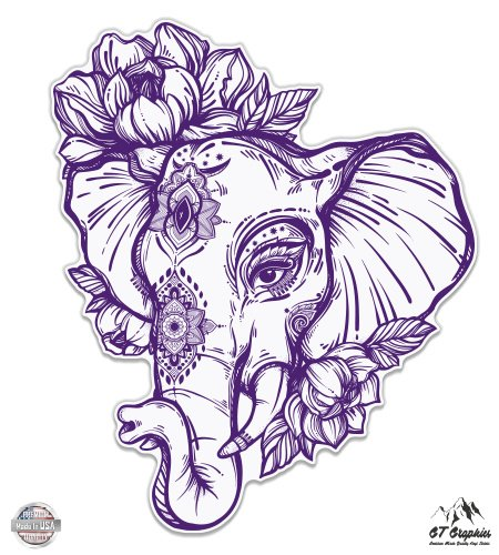 Elephant Henna Purple - 5