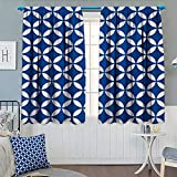 Best Eclipse Home Fashion Thermal Insulated Blackout Curtains Royal Blues - Chaneyhouse Navy Thermal Insulating Blackout Curtain Vintage Circles Review