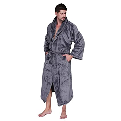82d02bd59a Firlar Men s Hooded Bath Robe