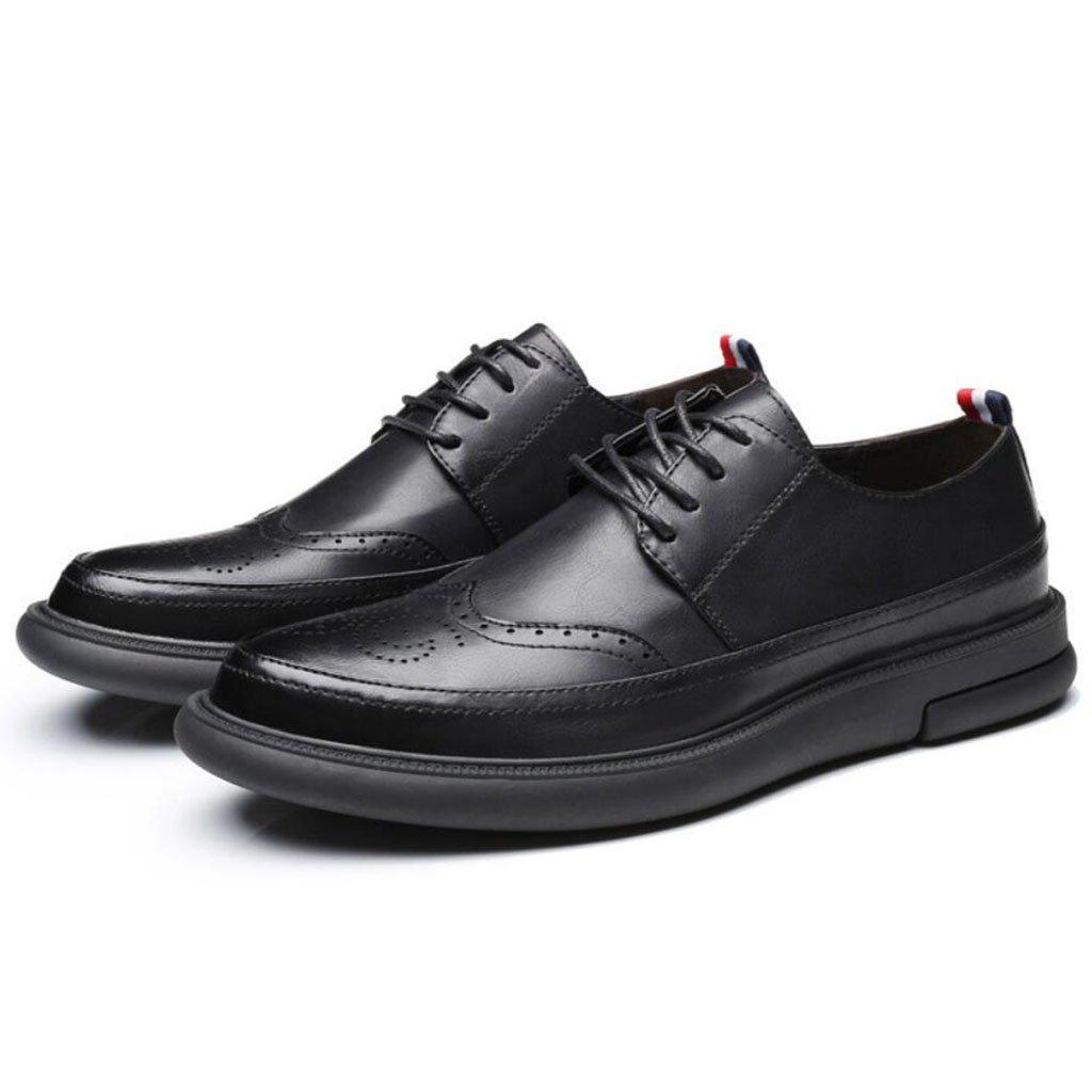 GAOLIXIA Zapatos Bullock de moda Zapatos casuales de moda Zapatos antideslizantes Zapatos Oxford universitarios Negro Gris (Color : Negro, tamaño : 41) 41|Negro