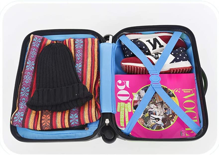 LEYOUDIAN Laganxiang 3D Cute Childrens Suitcase 18 inch Mini Trolley Box Universal Wheel Boarding Suitcase Men and Women Baby Color : Blue