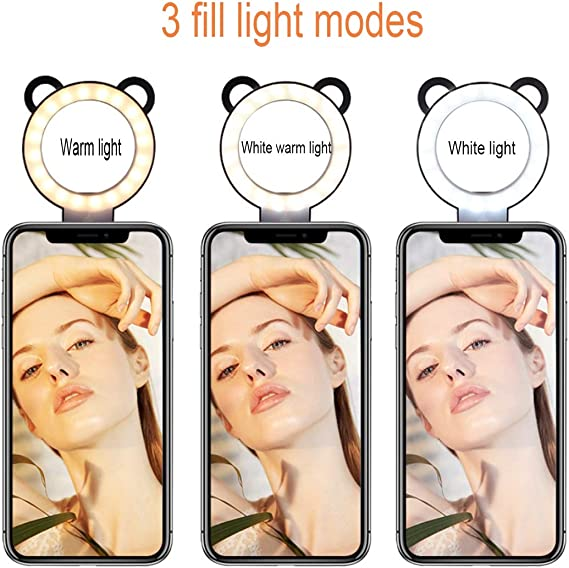 DLMPT Ringlight Make Up Light with Adjustable Tripod Stand LED Ring Light 10 Brightness Levels LED Ring Light with Phone Holder for Vlogs Live Stream YouTube