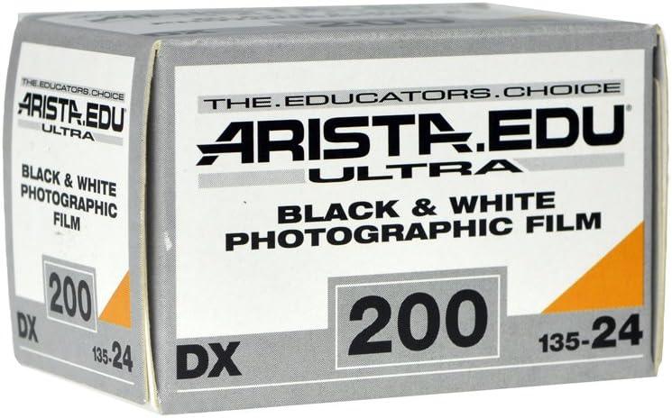 Arista EDU Ultra 200 ISO Black & White Photographic Film, 35mm, 24 exposure