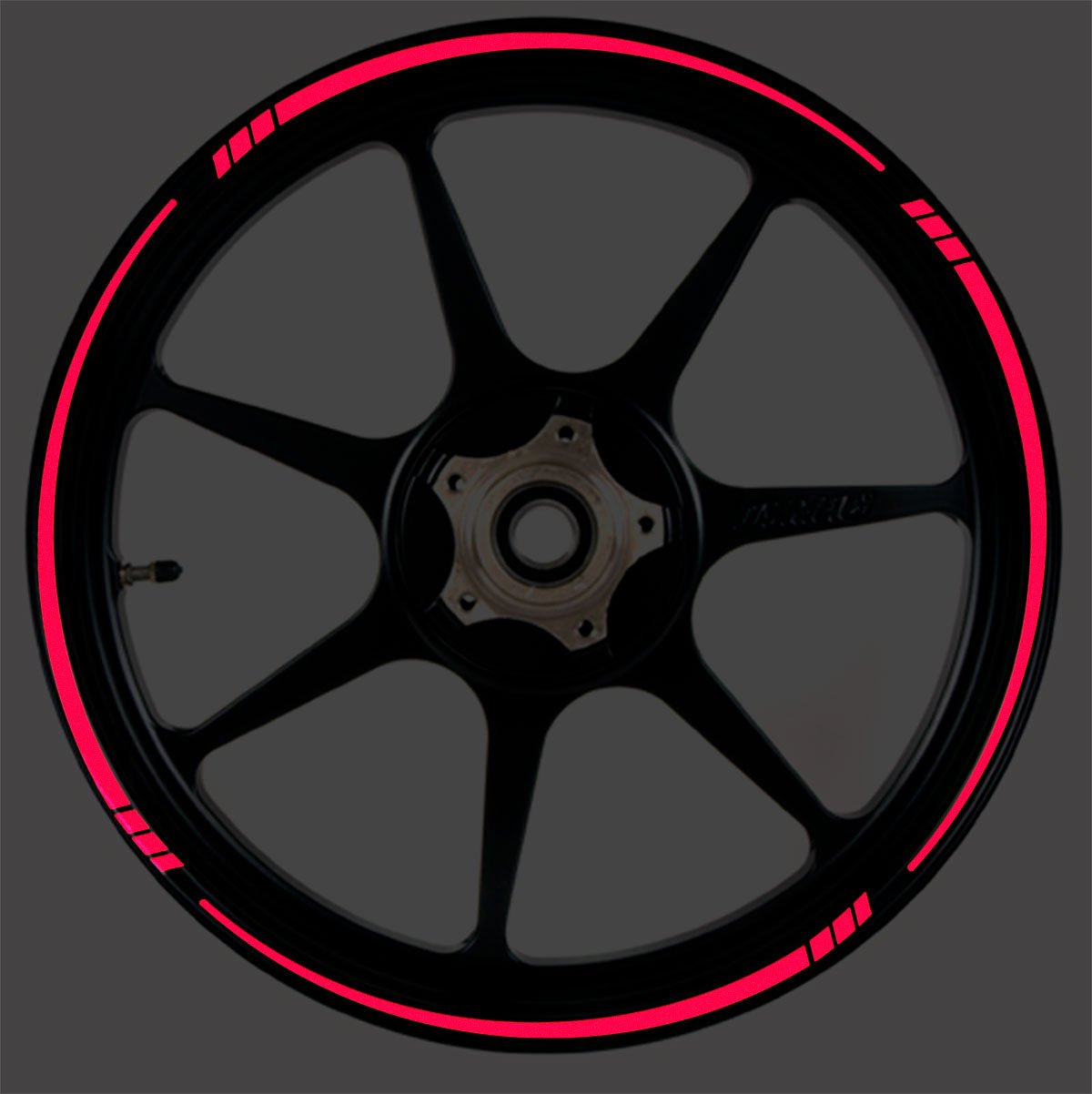 RED Reflective Speed Tapered Wheel Rim Tape Stripe fit Motorcycles, Cars, Trucks