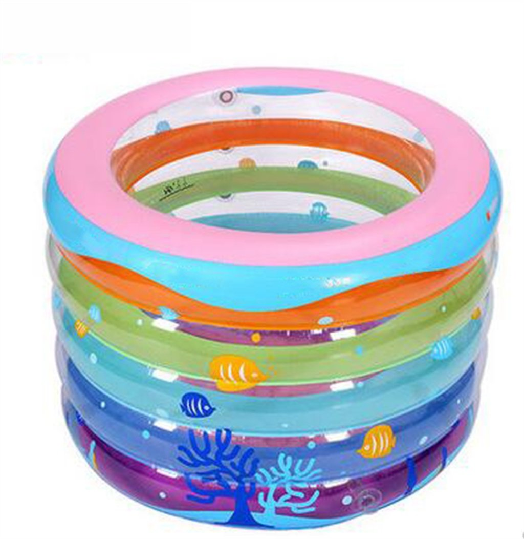LQQGXL,Bath Children Color Round Inflatable Bathtub Inflatable Inflatable Pool Larger Pool Collapsible Ocean Pool Pool Swimming Pool Water Playground Inflatable bathtub