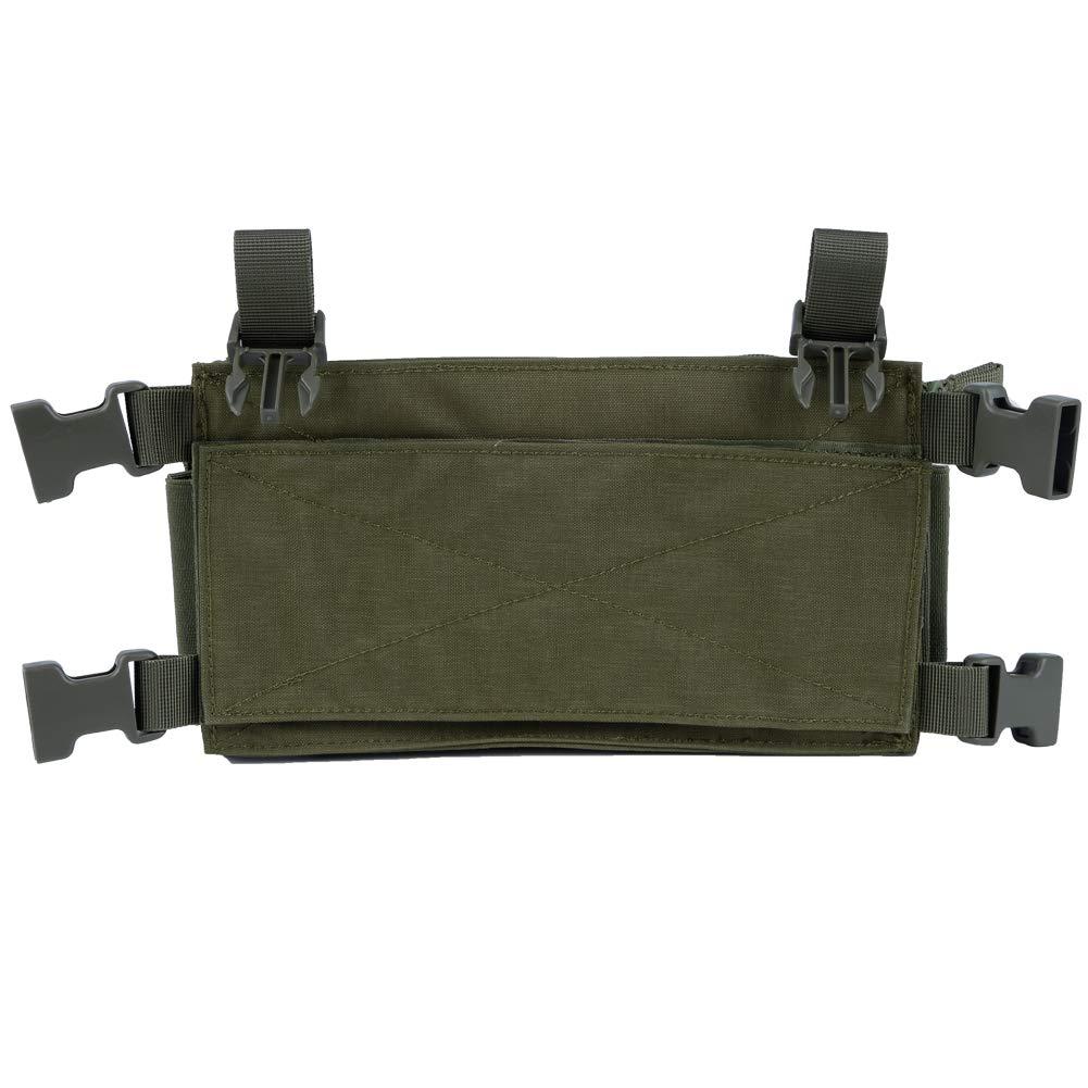 Huenco Camouflage Tactical Vest Airsoft Ammo Chest Rig 5.56 9mm Magazintr/äger Kampf Taktisches Milit/är