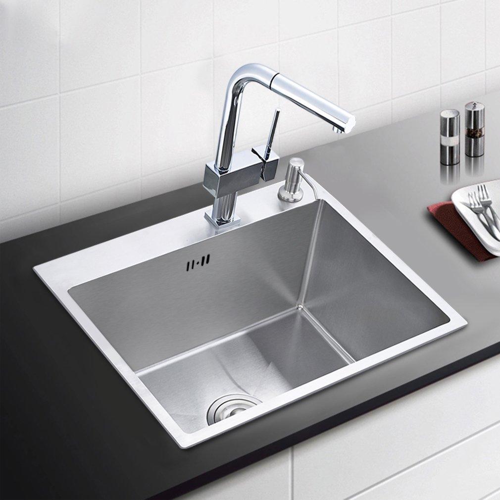 Auralum 55*45*22cm Waschbecken Spülbecken Küchenspüle ...