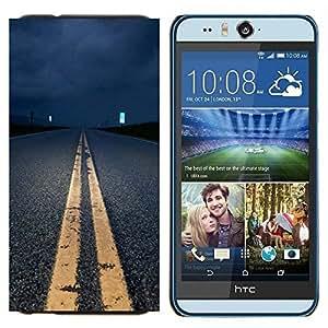 - Highway Night - - Cubierta del caso de impacto con el patr??n Art Designs FOR HTC Desire EYE M910x Queen Pattern