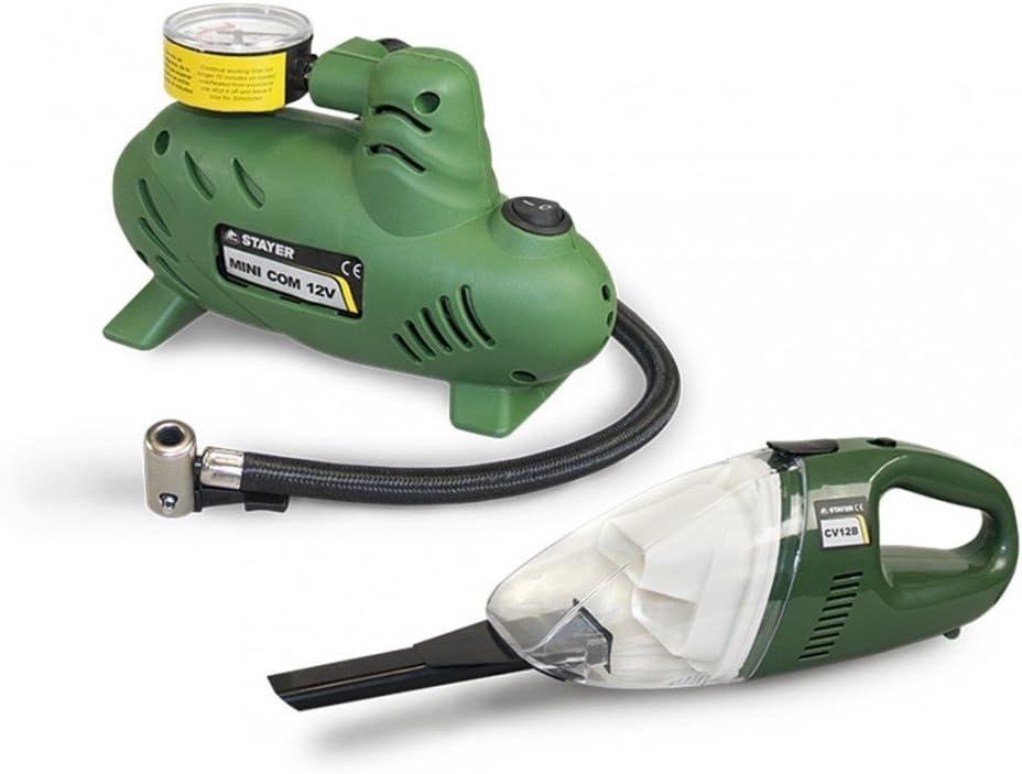 Stayer - Compresor Coche 12V Minicom12V + Aspirador Coche 12V Cv12 ...