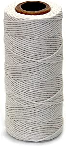 Ewparts Cotton Bakers Twine, Cotton String, Cooking Butchers Twine for Tying Poultry Meat Making Sausage, Gift Wrapping, DIY Crafts and Garden Decoration, 328 Feet (1.5MM,100M)