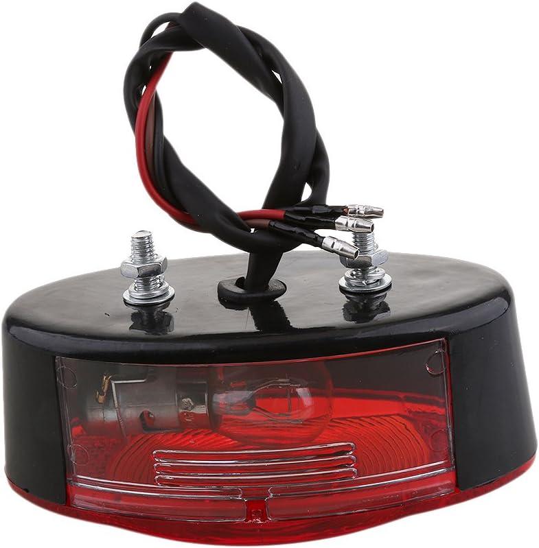 Gazechimp 12V Ampoule Moto Quad Quad L/éger De Queue De Plaque Dimmatriculation De Frein en Cours Dex/écution Noir