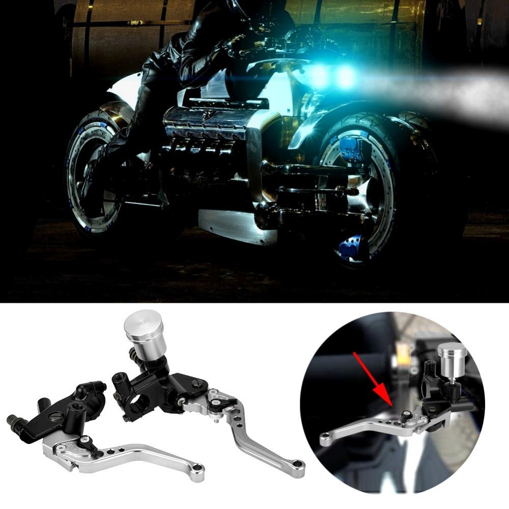 / CNC Adjustable Motorcycle Brake Lever The Cylinder default blue kimiss 1/ Pair of 22/ mm Hydraulic Pump Brake /& Clutch/