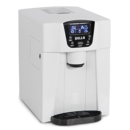 Beau Della Freestanding Water Dispenser With Built In Ice Maker Machine 26lbs  Per Day, 2