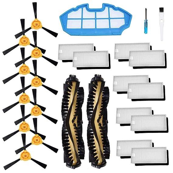 BSDY YQWRFEWYT Repuesto para Cecotec Conga Excellence 990 Robot Aspirador Kit de Accesorios Cepillo Principal Filtro Hepa, Cepillo Lateral: Amazon.es: Hogar