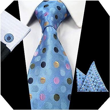MENDENG Mens Purple Floral Wedding Necktie Tie Bar Pocket Square Cufflinks Set