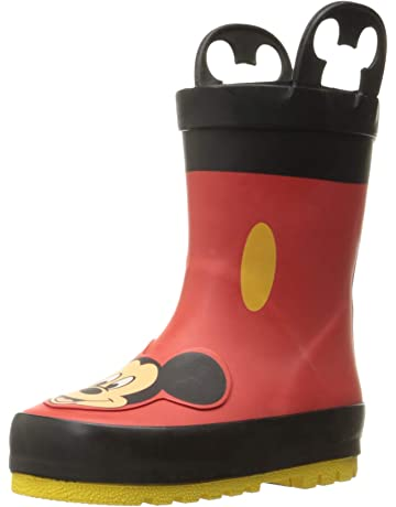 f23efc1de3f53 Western Chief Kids  Waterproof Disney Character Rain Boots with Easy on  Handles