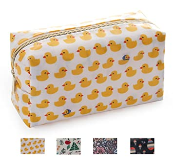 06387b6594af OMG Women's Travel Cosmetic Bags Small Makeup Clutch Pouch Cosmetic and  Toiletries Organizer Bag (Duck)
