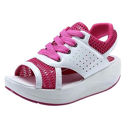 092afa6a6b650 Amazon.com: Tsmile Women Breathable Sandals Summer Hollow Fish Mouth ...