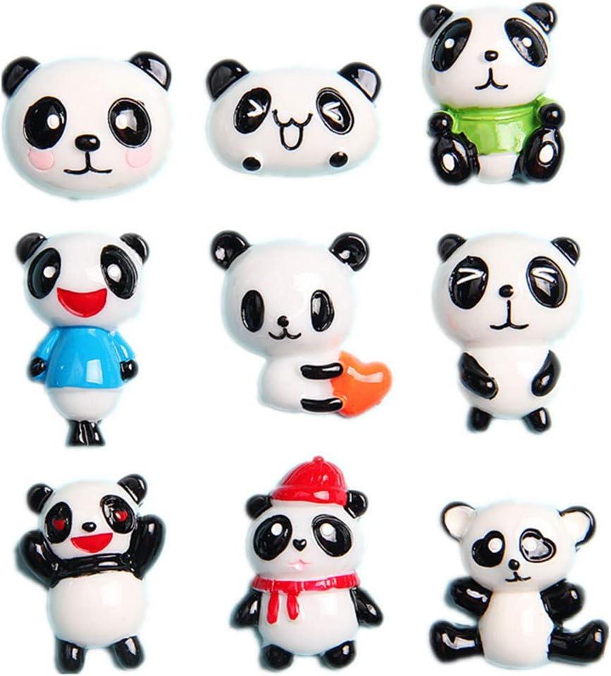 27 Pack Kawaii Giant Panda Slime Charms Panda Bear Animals Resin Flatback Beads for Miniature Fairy Garden Accessories Phone Case Scrapbooking Home Decor
