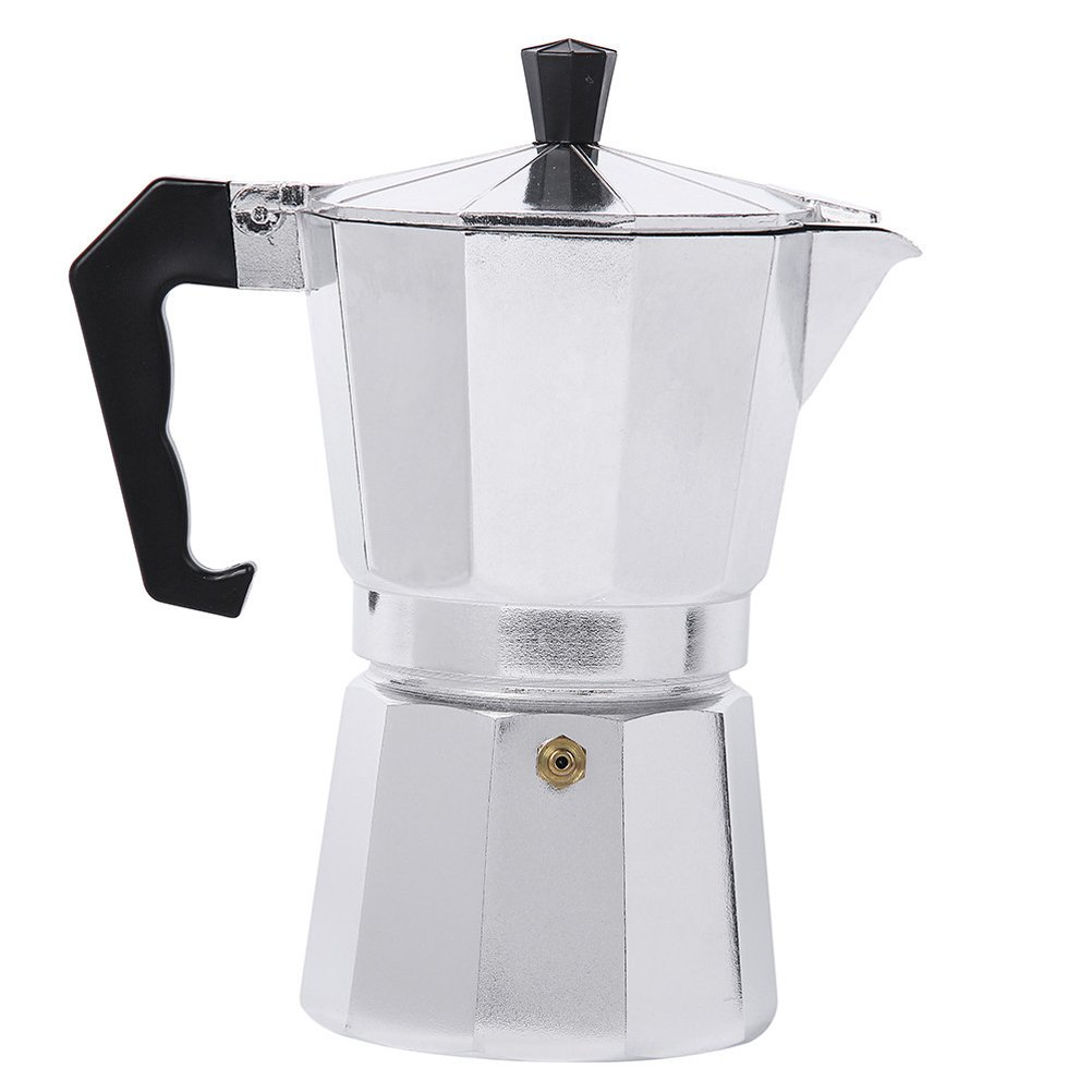 Myvision Aluminum 1cup/3cup/6cup/9cup/12cup Italian Stove top/Moka espresso coffee maker/Percolator pot tool(12 Cup)
