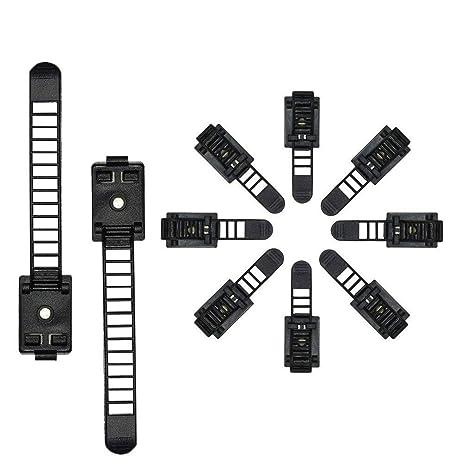 Kabelmanagement-System 100 St/ück selbstklebende Auto-Drahthalterung Kabel-Clip