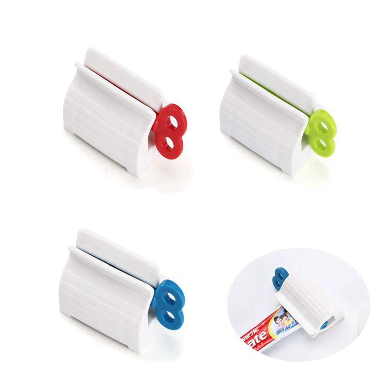 Qiajie 3 PCS Rolling Tube Dentifricio Spremiagrumi Maniglia Conveniente Facile Spremiagrumi Supporto in plastica per Il Bagno