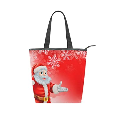 f0580ee98a56 IMOBABY Winter Holiday Chriestmas Santa Claus Canvas Large Shopping ...