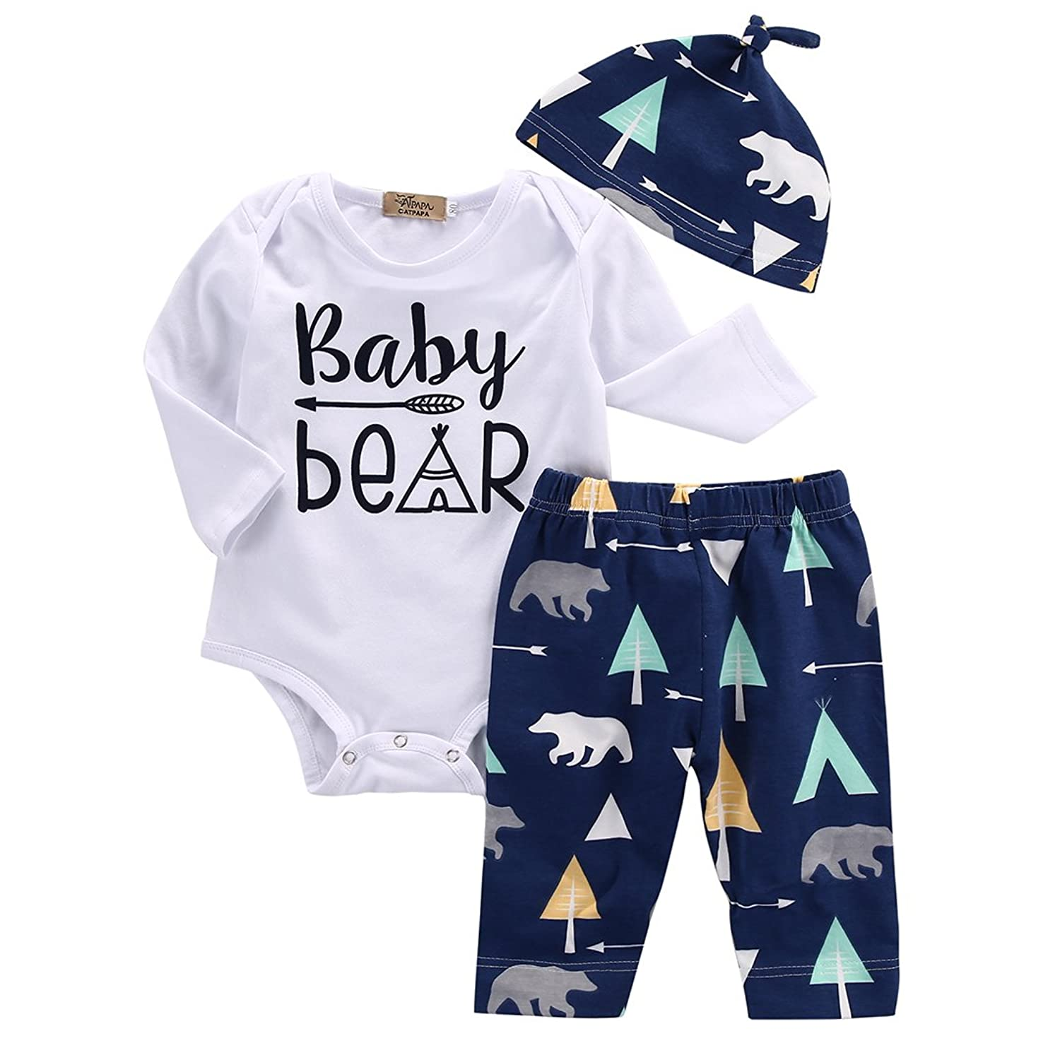 Amazon Com Unisex Toddler Infant Newborn Girl Boy Baby Bear Romper