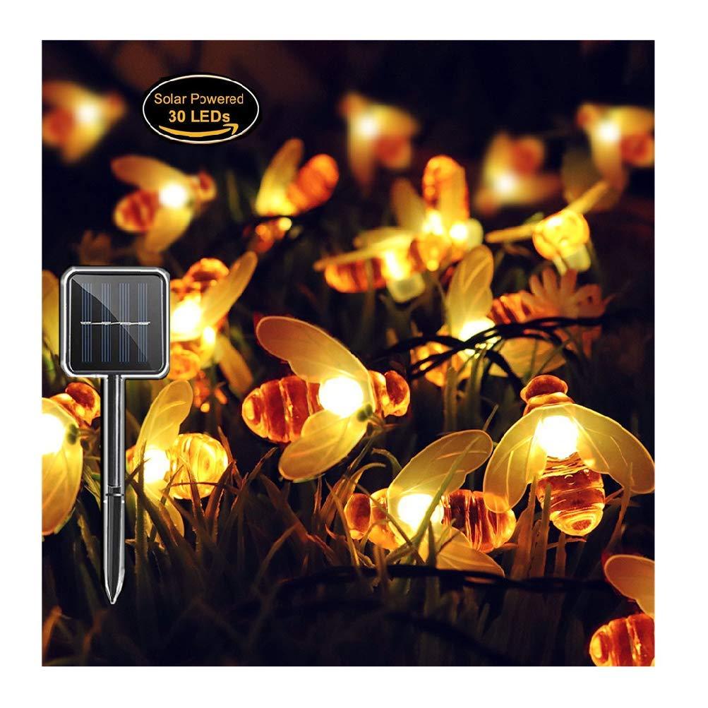Cuerda Luminosa de 22 Pies (50 Luces Led) Panpany con Alimentación Solar, Luces Decorativas de Fiesta Impermeables para Jardín, Patio, Hogar, Árbol de Navidad y Fiestas L10E0601