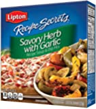 Lipton Recipe Secrets Soup and Dip Mix, Savory Herb with Garlic 2.4 oz (Pack of 6)