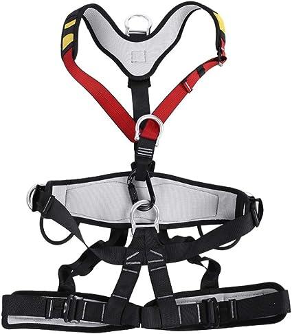Cinturones de Seguridad para Hombre y Mujer, Arnés de Seguridad de Escalada de Montaña Ajustable Multiusos para Rescate Escalar Montañismo
